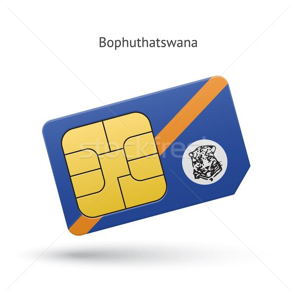 Bophuthatswana mobile phone sim card with flag. Stock photo © tkacchuk