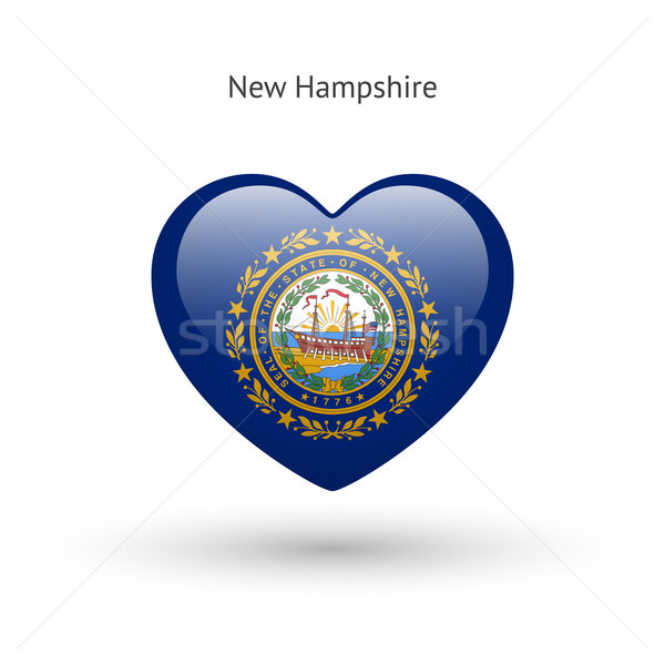 Amour New Hampshire symbole coeur pavillon icône Photo stock © tkacchuk