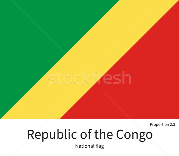 National flag Republic of Congo with correct proportions, element, colors Stock photo © tkacchuk