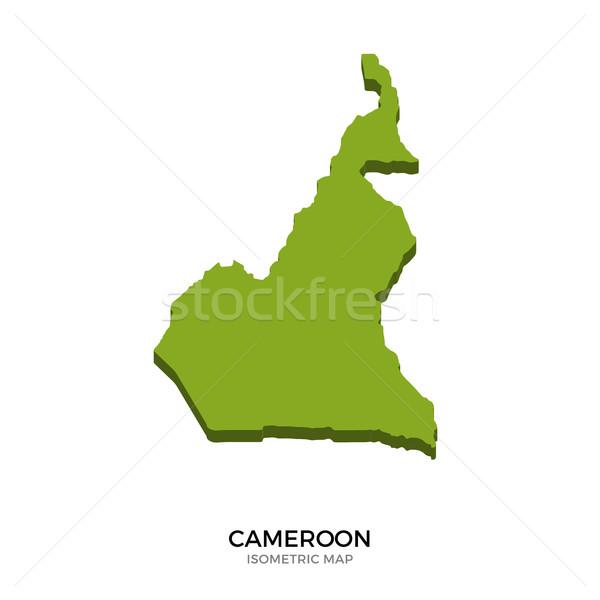 изометрический карта Камерун подробный изолированный 3D Сток-фото © tkacchuk