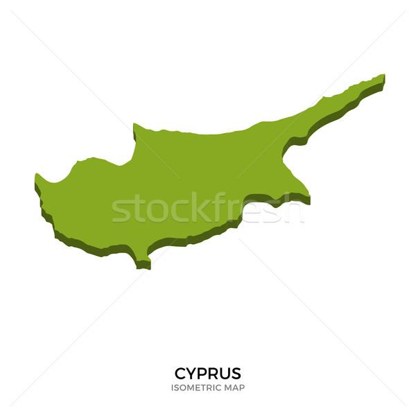 Isometrica mappa Cipro dettagliato isolato 3D Foto d'archivio © tkacchuk
