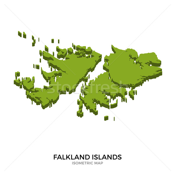 Isometric map of Falkland Islands detailed vector illustration Stock photo © tkacchuk