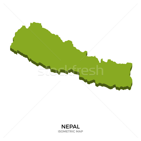Isometric map of Nepal detailed vector illustration Stock photo © tkacchuk