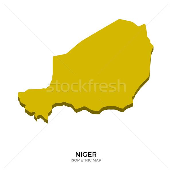 изометрический карта Нигер подробный изолированный 3D Сток-фото © tkacchuk