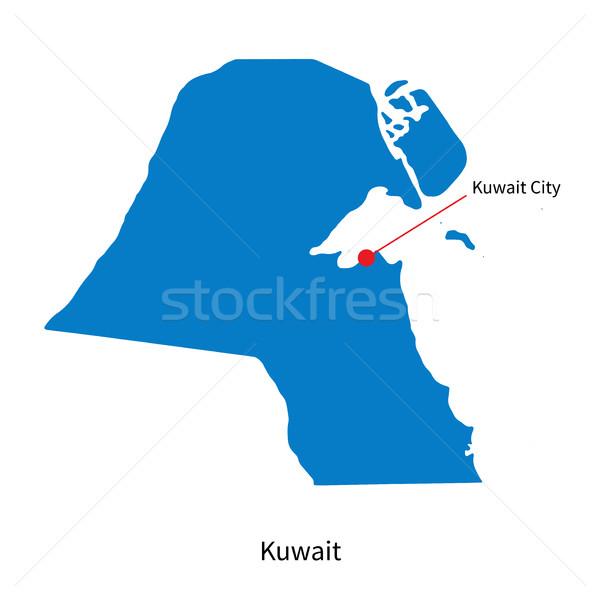 подробный вектора карта Кувейт город образование Сток-фото © tkacchuk