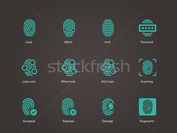 Fingerprint icons. Stock photo © tkacchuk