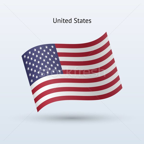 United States flag waving form. Stock photo © tkacchuk