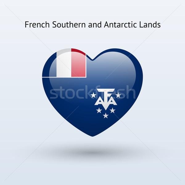 любви французский южный символ сердце флаг Сток-фото © tkacchuk