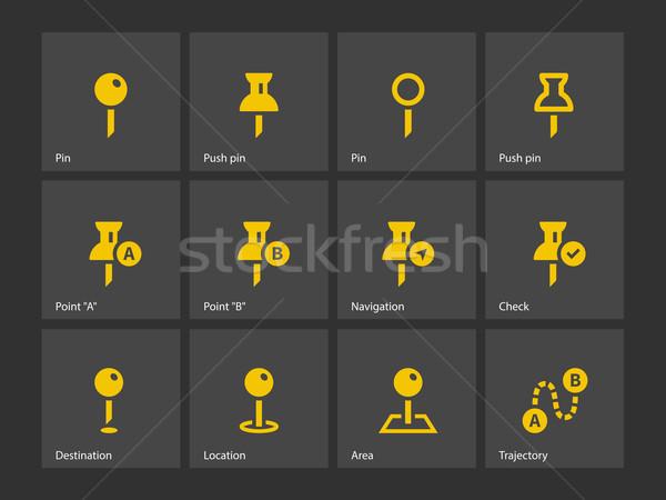 Mapping Pin icons. Stock photo © tkacchuk