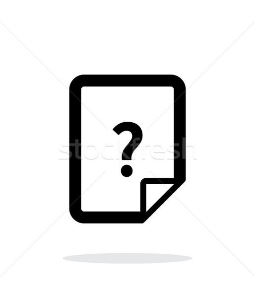 ヘルプ よくある質問 ファイル アイコン 白 インターネット ストックフォト © tkacchuk