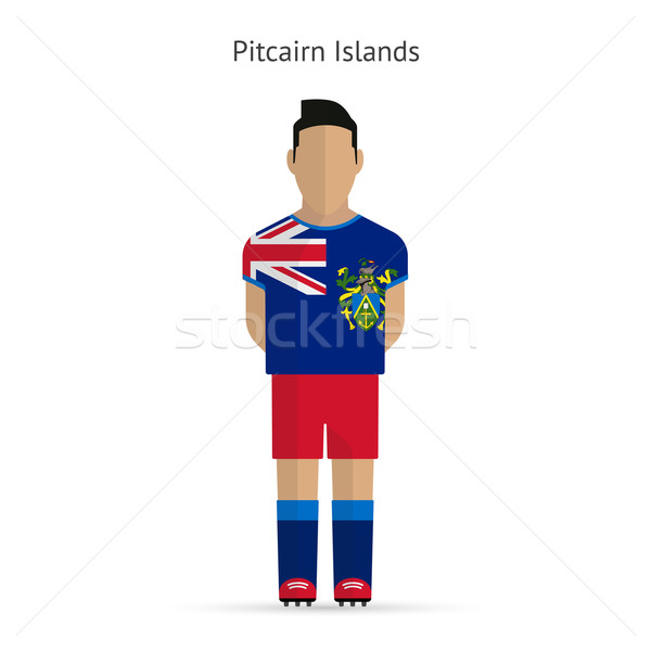 Pitcairn Islands football player. Soccer uniform. Stock photo © tkacchuk