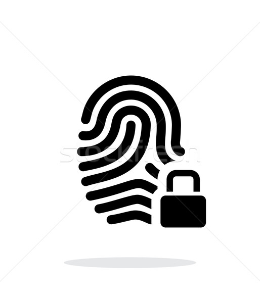 Fingerprint and thumbprint with lock icon on white background. Stock photo © tkacchuk