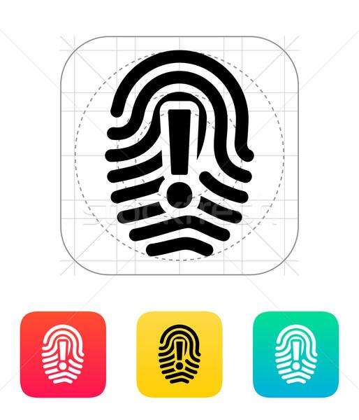 Attention sign on fingerprint icon. Stock photo © tkacchuk
