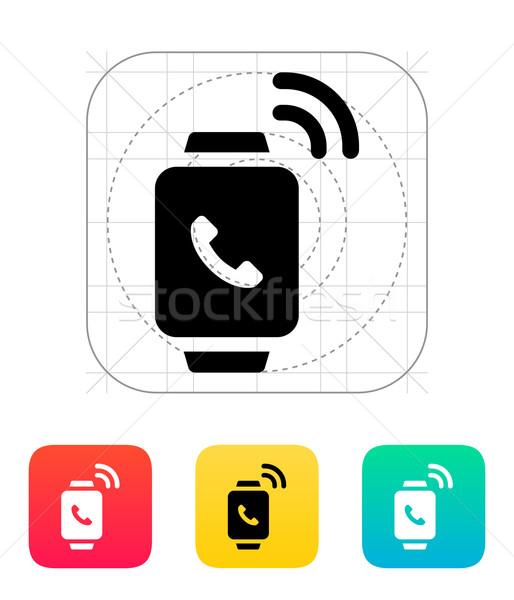 Incoming call on smart watch icon. Stock photo © tkacchuk
