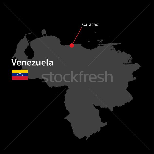 Részletes térkép Venezuela város Caracas zászló Stock fotó © tkacchuk