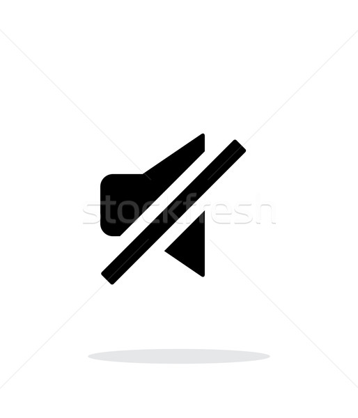 Turn off sound simple icon on white background. Stock photo © tkacchuk