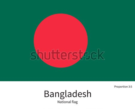 National flag of Bangladesh with correct proportions, element, colors Stock photo © tkacchuk