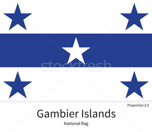 National flag of Gambier Islands with correct proportions, element, colors Stock photo © tkacchuk