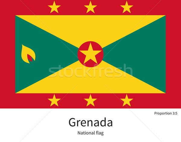 National flag of Grenada with correct proportions, element, colors Stock photo © tkacchuk