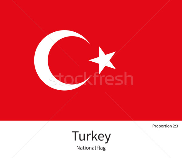 National flag of Turkey with correct proportions, element, colors Stock photo © tkacchuk
