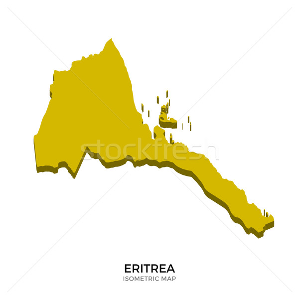Isometric map of Eritrea detailed vector illustration Stock photo © tkacchuk
