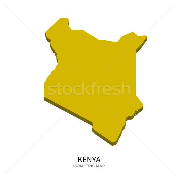 Izometryczny Pokaż Kenia szczegółowy odizolowany 3D Zdjęcia stock © tkacchuk