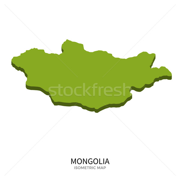 Isometric map of Mongolia detailed vector illustration Stock photo © tkacchuk