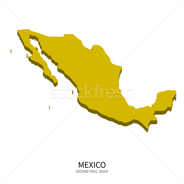 Isometric map of Mexico detailed vector illustration Stock photo © tkacchuk