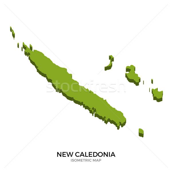 Isometrica mappa nuovo dettagliato isolato 3D Foto d'archivio © tkacchuk