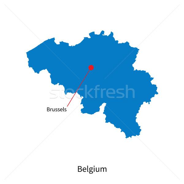 詳しい ベクトル 地図 ベルギー 市 ブリュッセル ストックフォト © tkacchuk