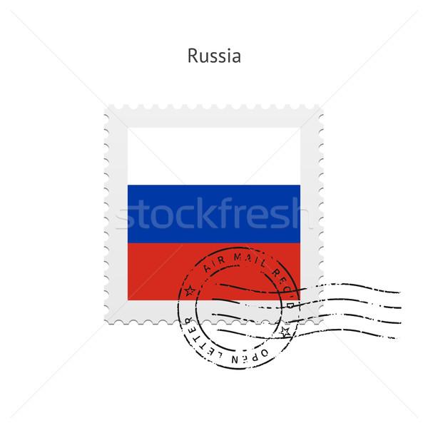 Rusia bandera blanco signo carta Foto stock © tkacchuk