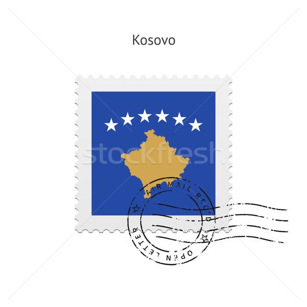 Kosovo bandera blanco signo carta Foto stock © tkacchuk