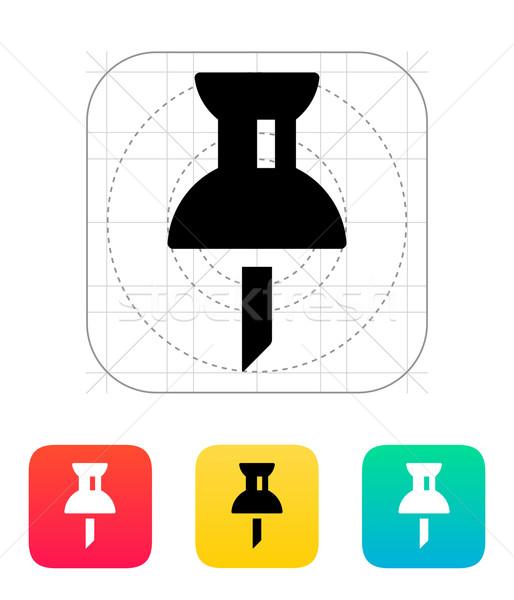 Mapping push pin icon. Stock photo © tkacchuk