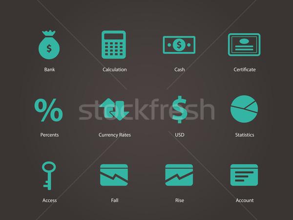 Economia icone business computer vetro web Foto d'archivio © tkacchuk