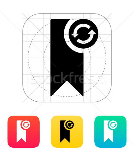 Bookmark synchronization icon. Stock photo © tkacchuk