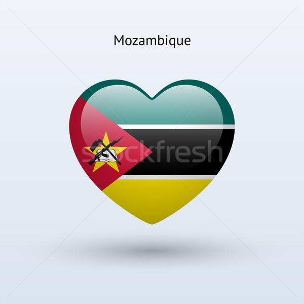 любви Мозамбик символ сердце флаг икона Сток-фото © tkacchuk