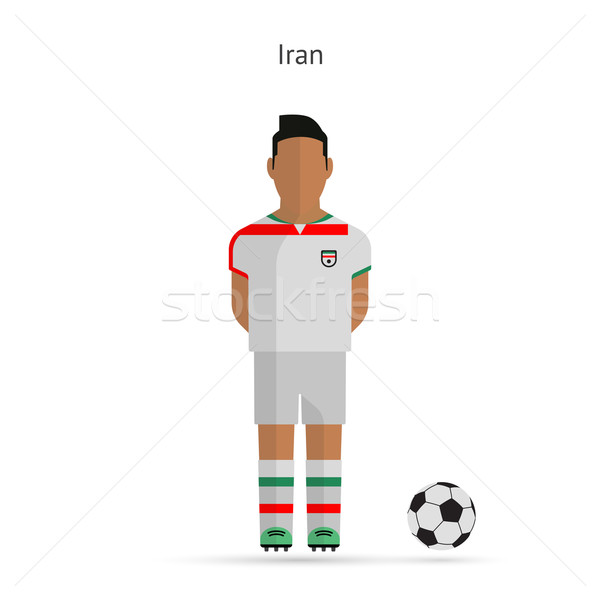 National football player. Iran soccer team uniform. Stock photo © tkacchuk