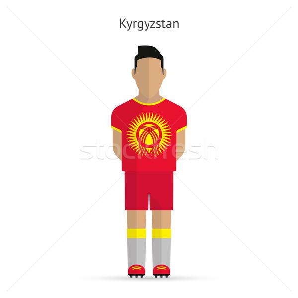 Kırgızistan futbol üniforma soyut uygunluk Stok fotoğraf © tkacchuk