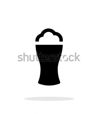 Piwa szkła piana proste ikona biały Zdjęcia stock © tkacchuk