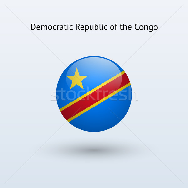 Democratic Republic of the Congo round flag. Stock photo © tkacchuk