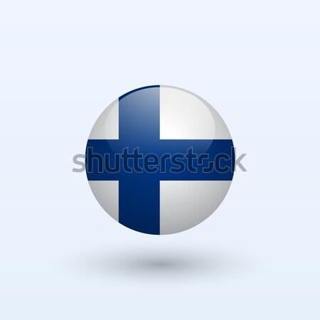 Finlândia bandeira cinza assinar teia viajar Foto stock © tkacchuk