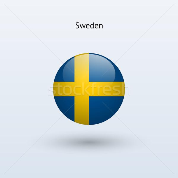 Szwecja banderą szary podpisania internetowych podróży Zdjęcia stock © tkacchuk