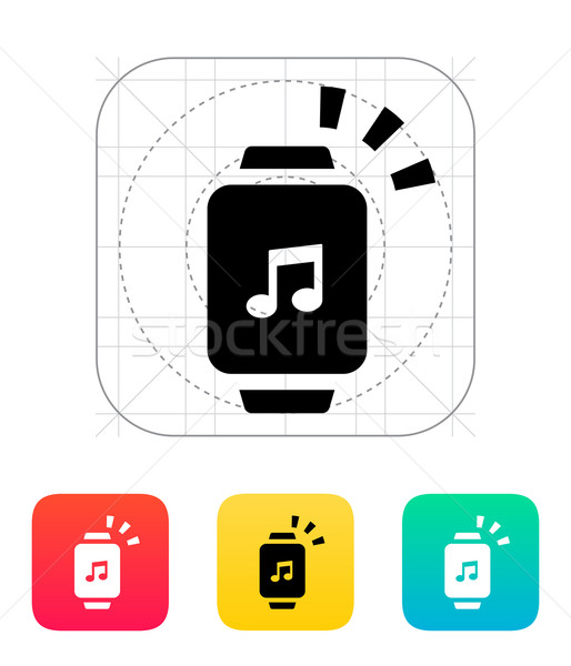Outgoing sound from smart watch icon. Stock photo © tkacchuk