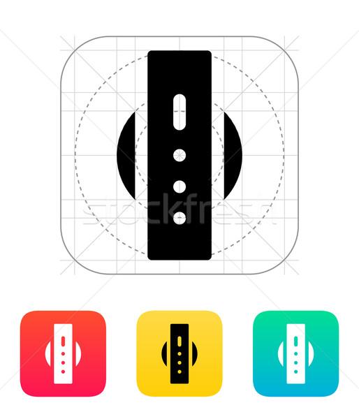 Akıllı izlemek arkadan görünüm ikon telefon geri Stok fotoğraf © tkacchuk