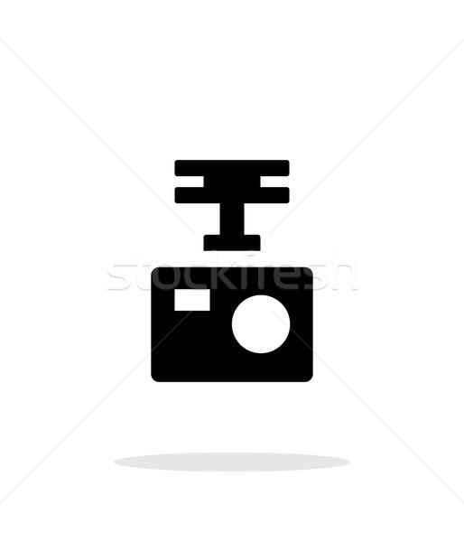 Portable drone camera simple icon on white background. Stock photo © tkacchuk