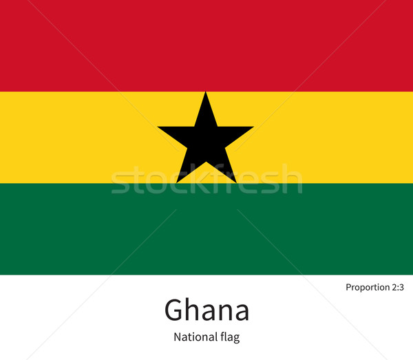 National flag of Ghana with correct proportions, element, colors Stock photo © tkacchuk