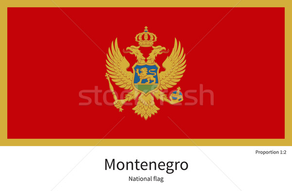 National flag of Montenegro with correct proportions, element, colors Stock photo © tkacchuk
