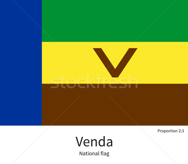 National flag of Venda with correct proportions, element, colors Stock photo © tkacchuk