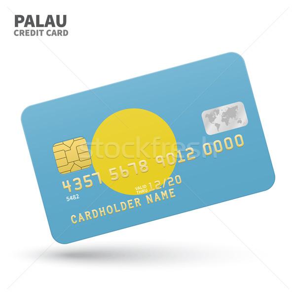 ストックフォト: クレジットカード · パラオ · フラグ · 銀行 · プレゼンテーション · ビジネス