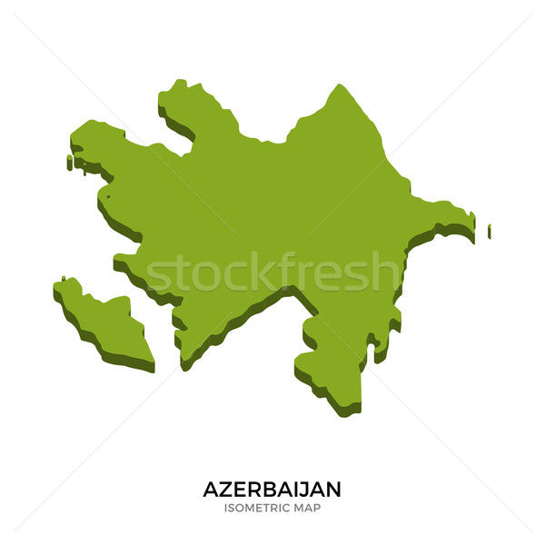 Isometric map of Azerbaijan detailed vector illustration Stock photo © tkacchuk